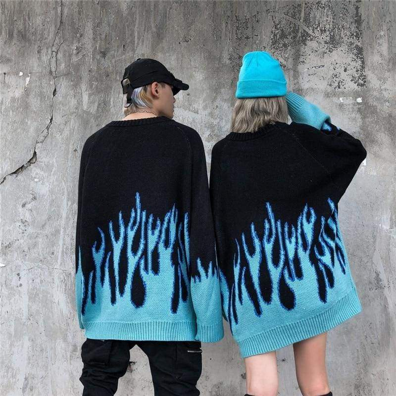 Blue Flame Sweater | Streetgarm