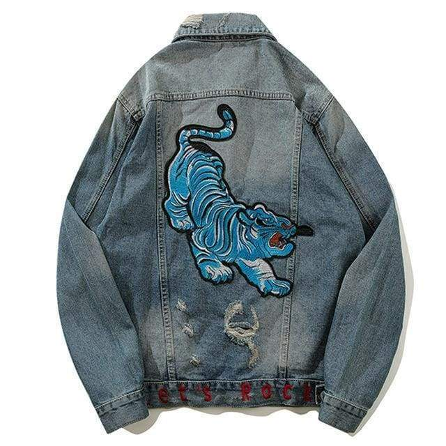 Blue Tiger Denim Jacket | M - Streetgarm