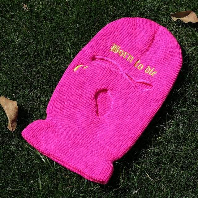 Born To Die Fashion Ski Mask | Pink / One Size - Streetgarm