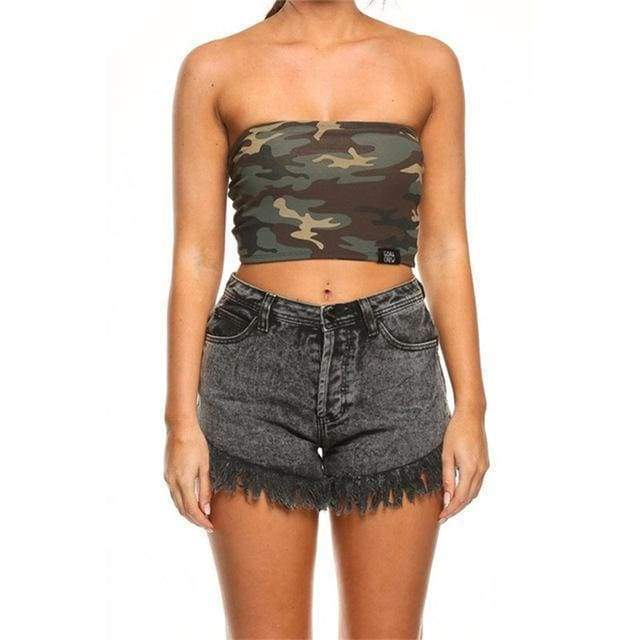 Camo Tube Top - Green | L - Streetgarm