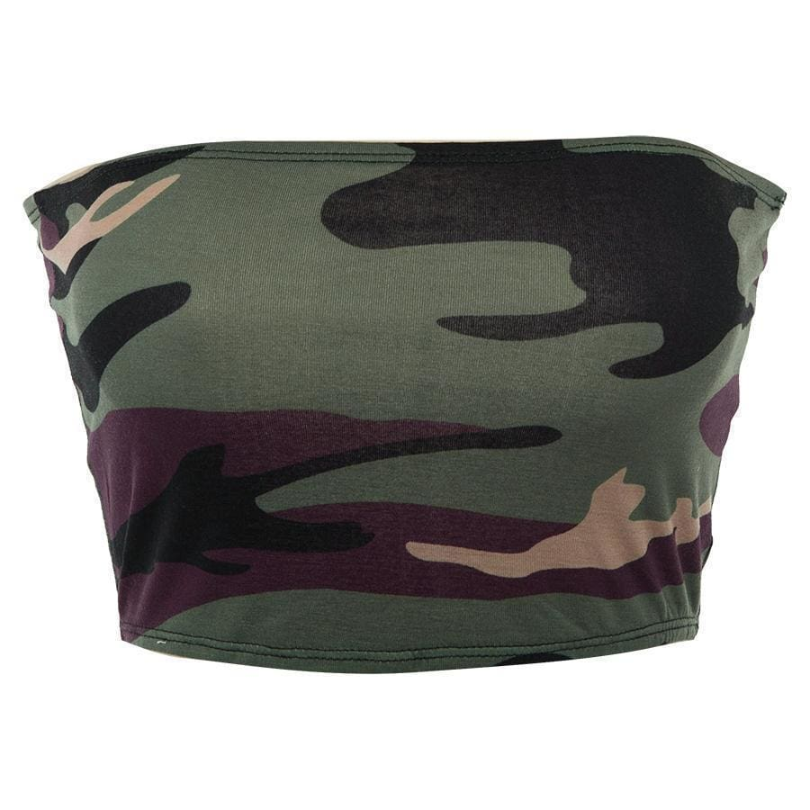 Camo Tube Top - Green | Streetgarm