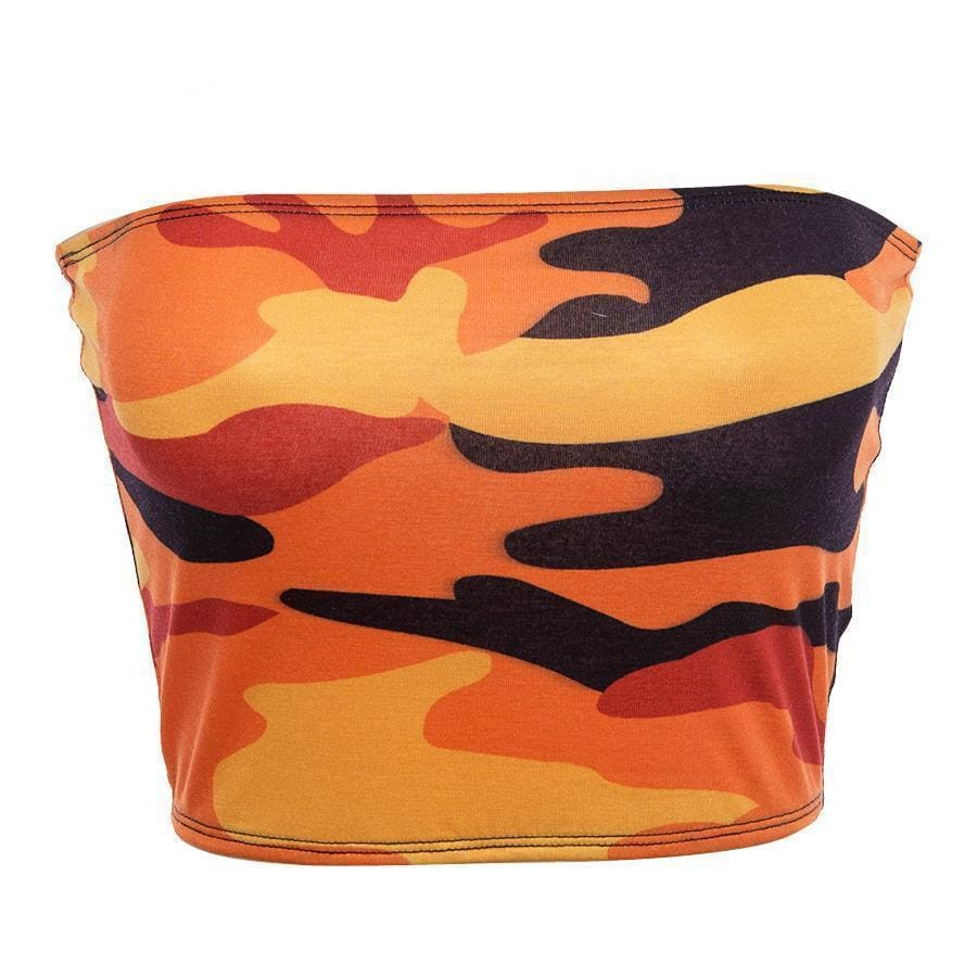 Camo Tube Top - Orange | Streetgarm