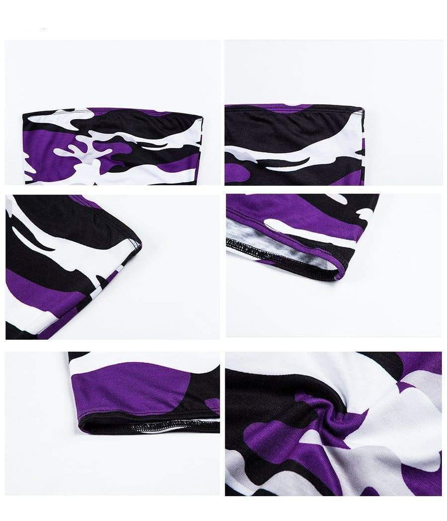 Camo Tube Top - Purple | Streetgarm