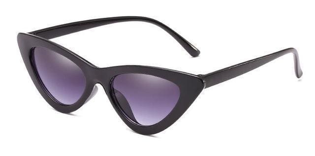 Cat Eye Sunglasses | Black Double Grey - Streetgarm