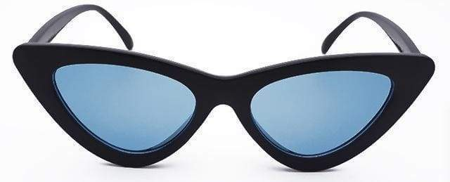 Cat Eye Sunglasses | Black Frame Blue - Streetgarm