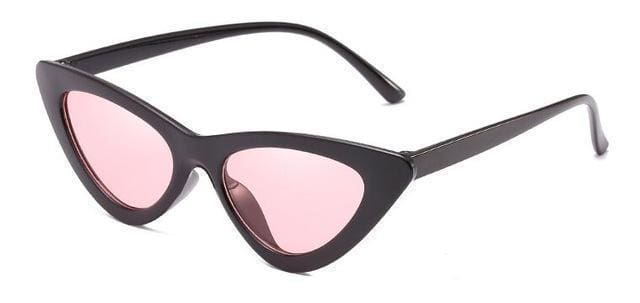 Cat Eye Sunglasses | Black Frame Pink - Streetgarm