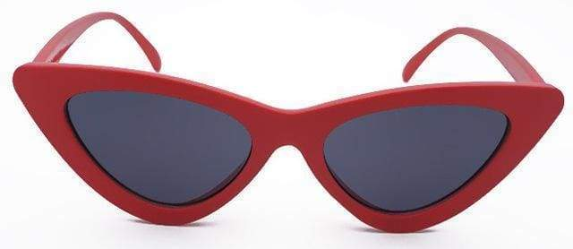 Cat Eye Sunglasses | Red Frame Black - Streetgarm