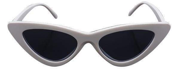 Cat Eye Sunglasses | White Frame Black - Streetgarm