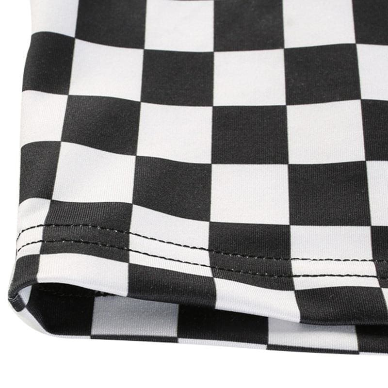 Checkerboard Crop Top | Streetgarm