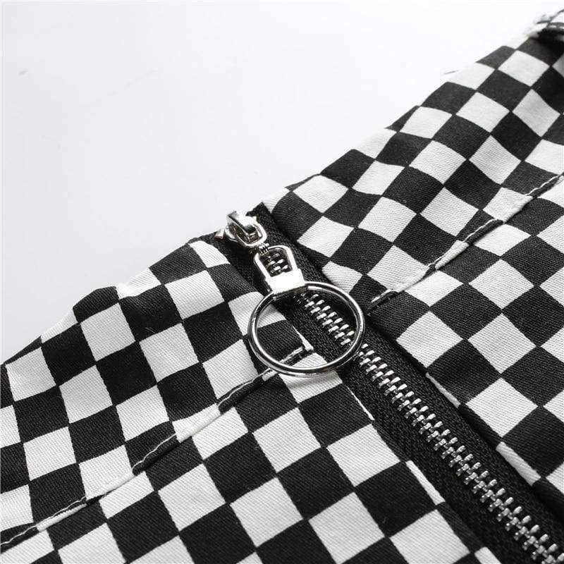 Checkerboard Mini Skirt | Streetgarm