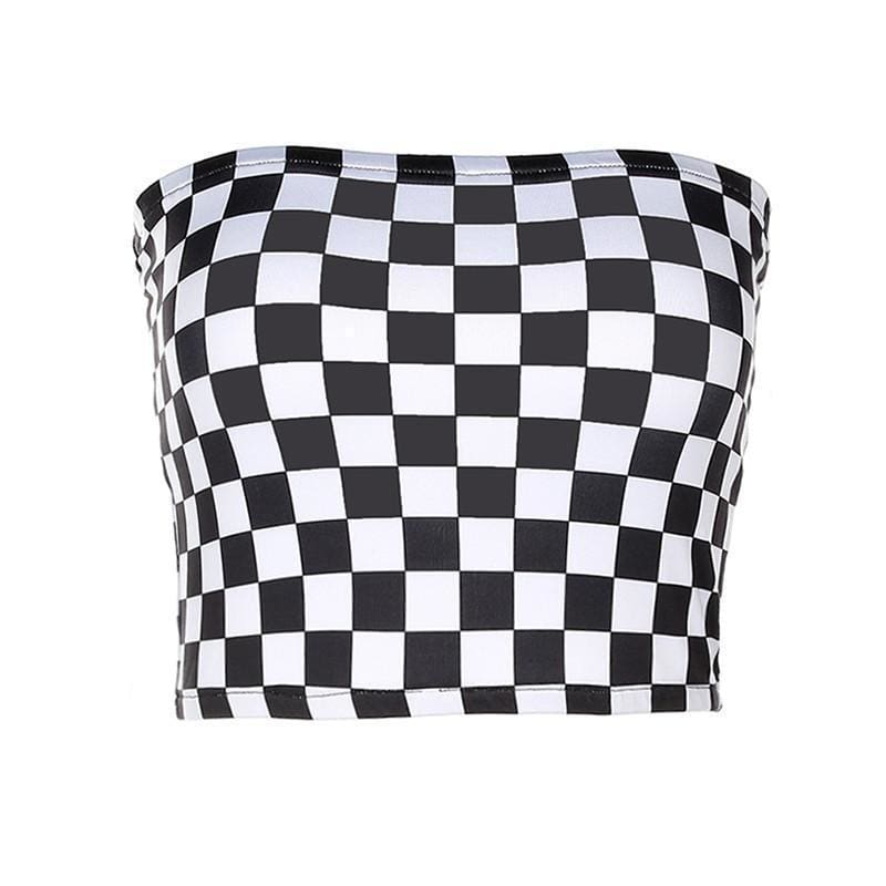 Checkerboard Tube Top | Streetgarm