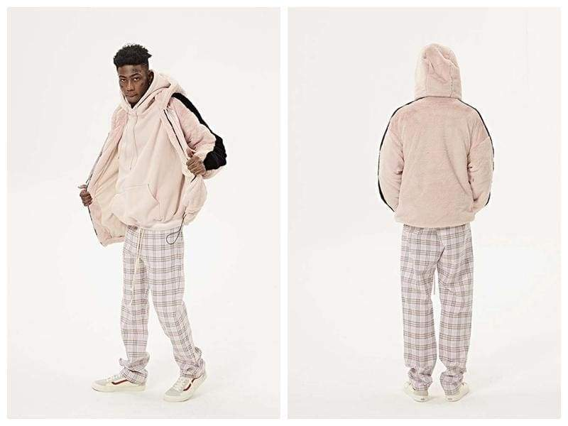 Checkered Pants - Pink | Streetgarm