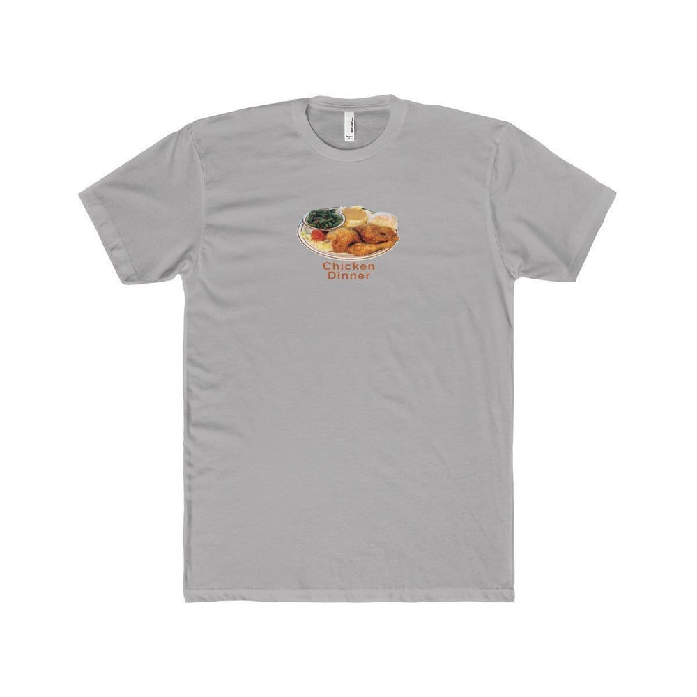 Chicken Dinner T-Shirt | Grey / XS - Printify