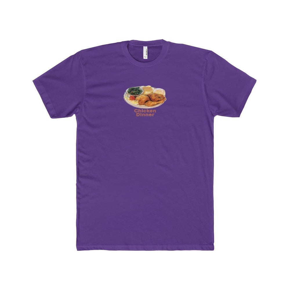 Chicken Dinner T-Shirt | Purple / XS - Printify