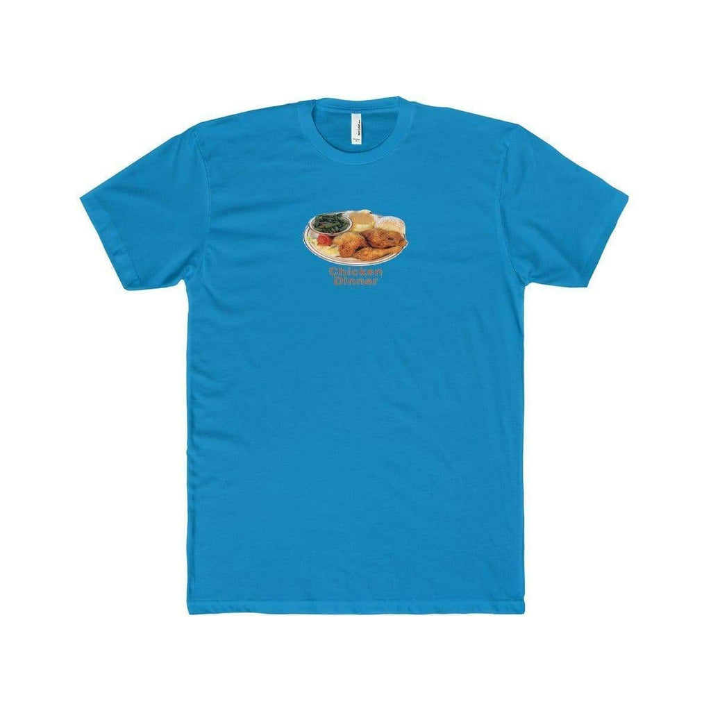 Chicken Dinner T-Shirt | Turquoise / XS - Printify