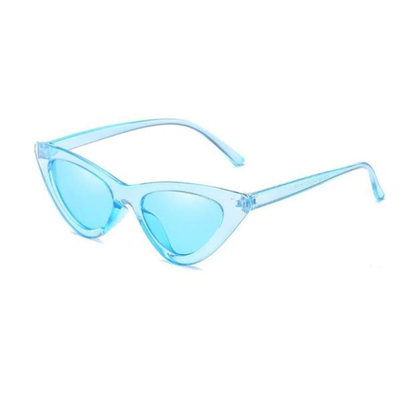 Clear Cat Eye Sunglasses | Blue Frame - Streetgarm