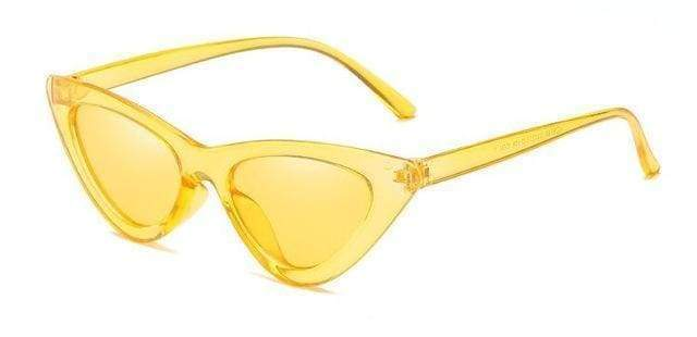 Clear Cat Eye Sunglasses | Yellow Frame - Streetgarm