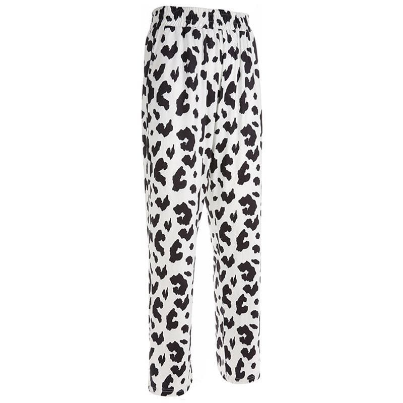 Cow Print Casual Pants | Streetgarm