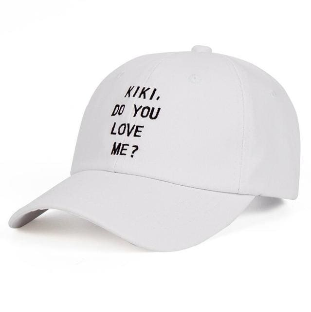 Drake Kiki Do You Love Me? Cap | White - Streetgarm