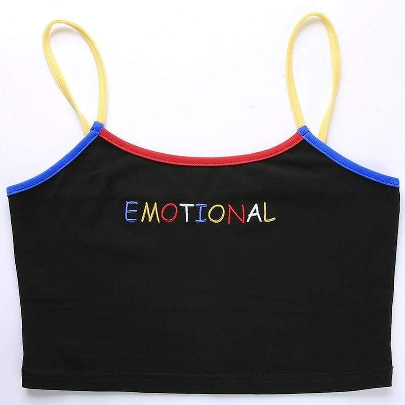 Emotional Crop Tank Top | Streetgarm