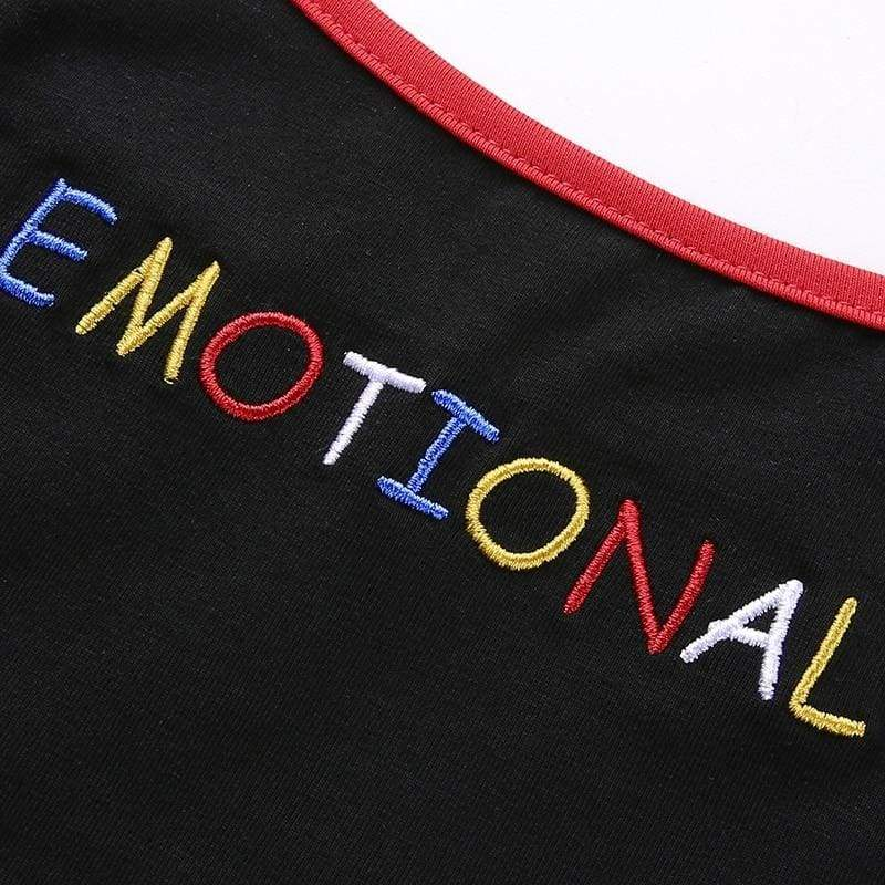 Emotional Crop Tank Top