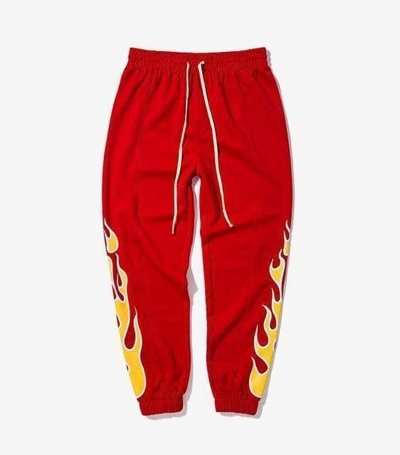 Flame Jogger Pants | Red / L - Streetgarm