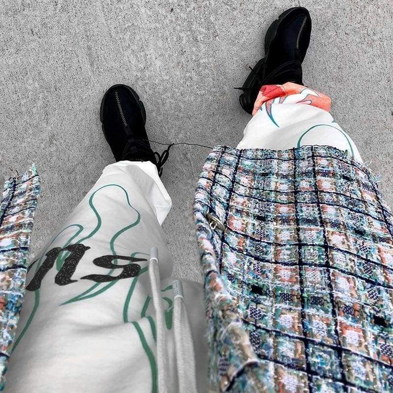 Flaming Fire Jogger Pants