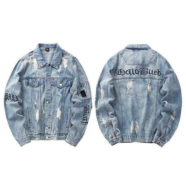 Gothic Denim Jacket | Blue / M - Streetgarm