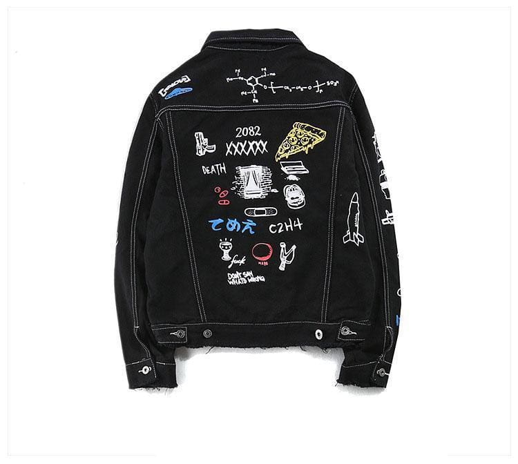 Graffiti Denim Jacket | Streetgarm