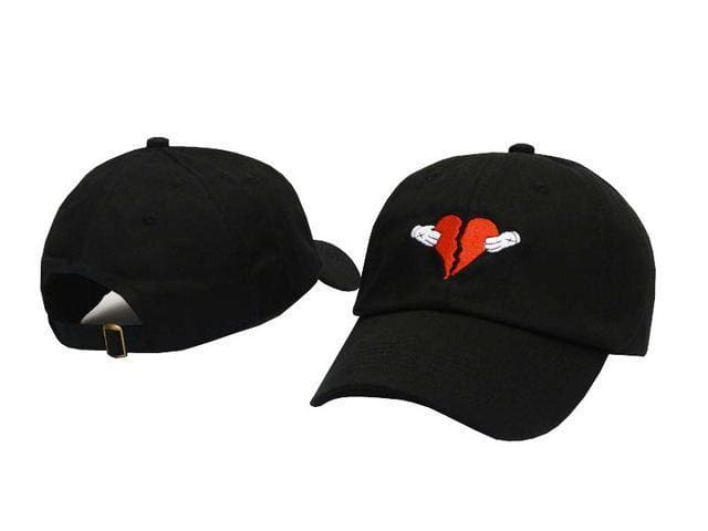 Heart Break Cap | Black - Streetgarm