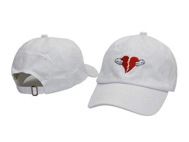 Heart Break Cap | White - Streetgarm