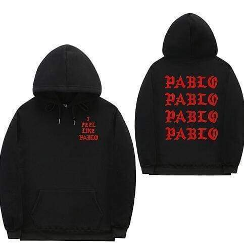 I Feel Like Pablo hoodie | Black / Red / S - Streetgarm