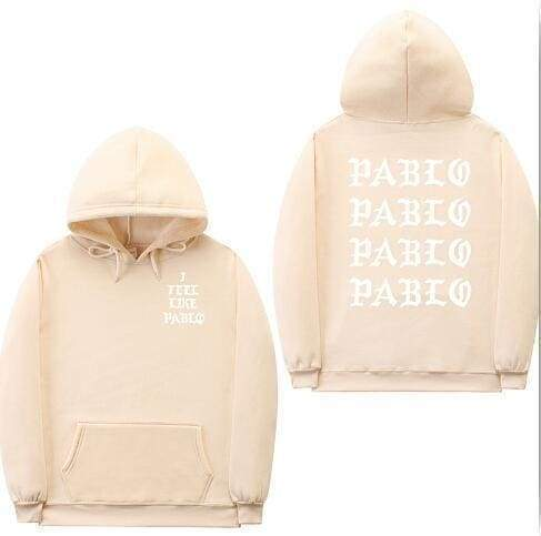 I Feel Like Pablo hoodie | Tan / White / S - Streetgarm