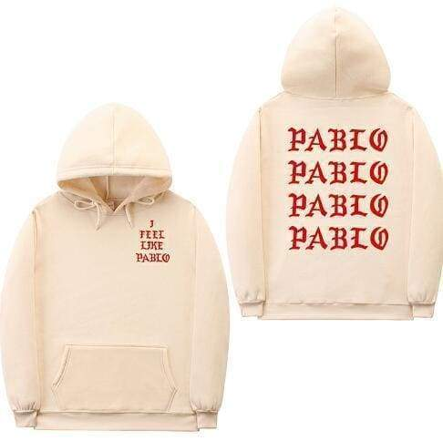 I Feel Like Pablo hoodie | Tan / Red / S - Streetgarm