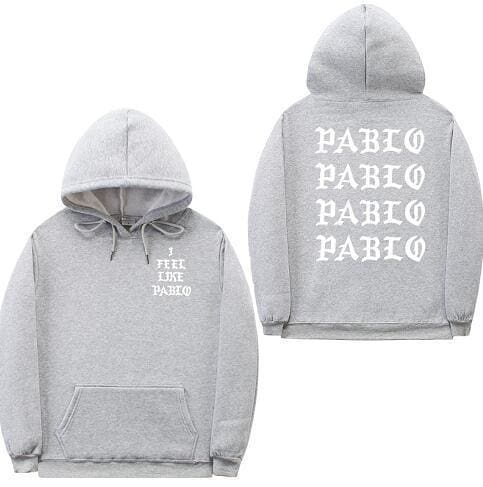 I Feel Like Pablo hoodie | Grey / White / S - Streetgarm