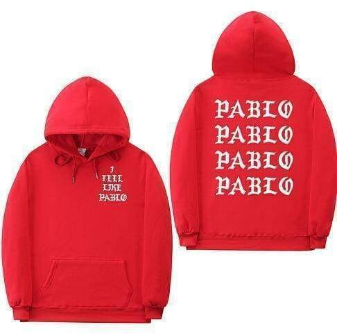 I Feel Like Pablo hoodie | Red / S - Streetgarm