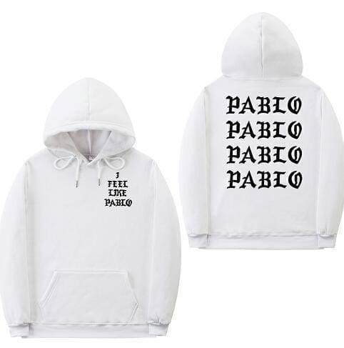 I Feel Like Pablo hoodie | White / Black / S - Streetgarm