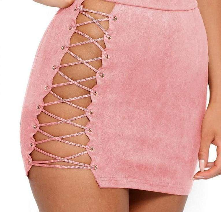 Lace Suede Two Piece | Streetgarm