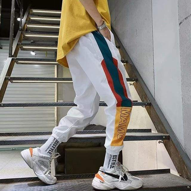 MAMC Color Block Jogger Pants | S / White - Streetgarm