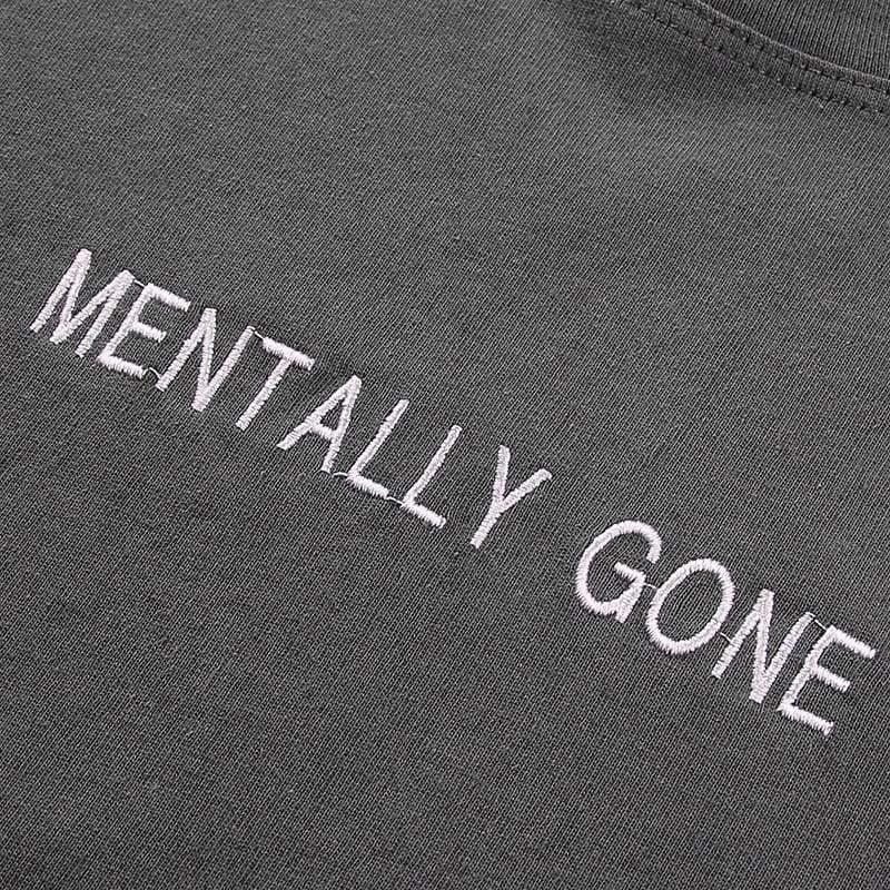 Mentally Gone Cropped T-Shirt | Streetgarm