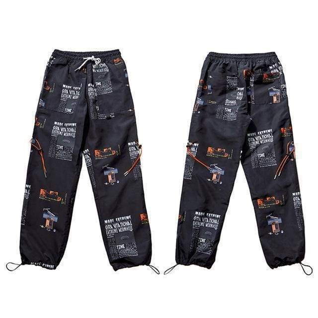 Modern Art Sweatpants | Black / M - Streetgarm