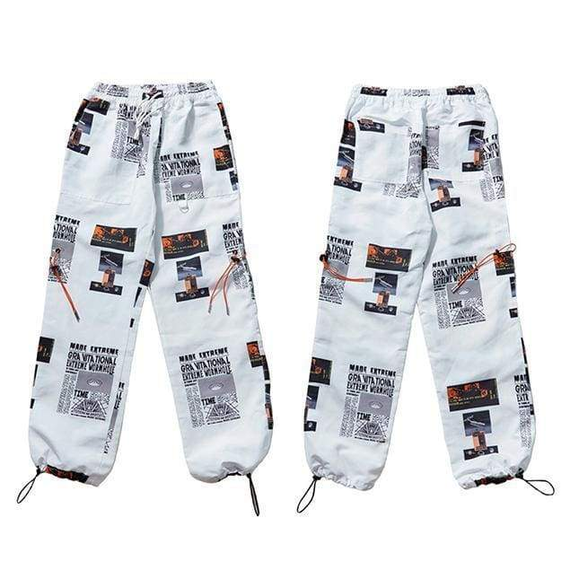 Modern Art Sweatpants | White / M - Streetgarm