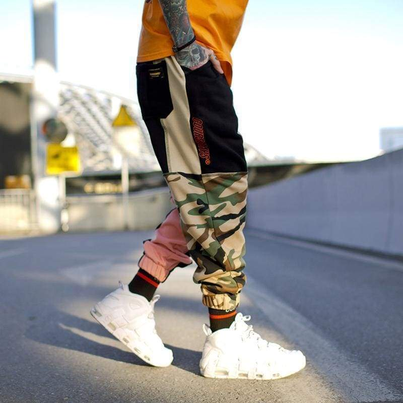 Multi Color Patchwork Joggers | Streetgarm