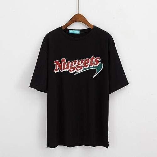 Oversize Nuggets T-Shirt | Black / One Size - Streetgarm