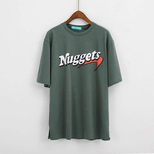 Oversize Nuggets T-Shirt | Green / One Size - Streetgarm