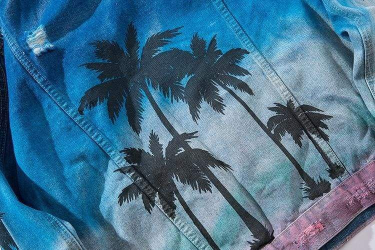 Palm Tree Denim Jacket | Streetgarm