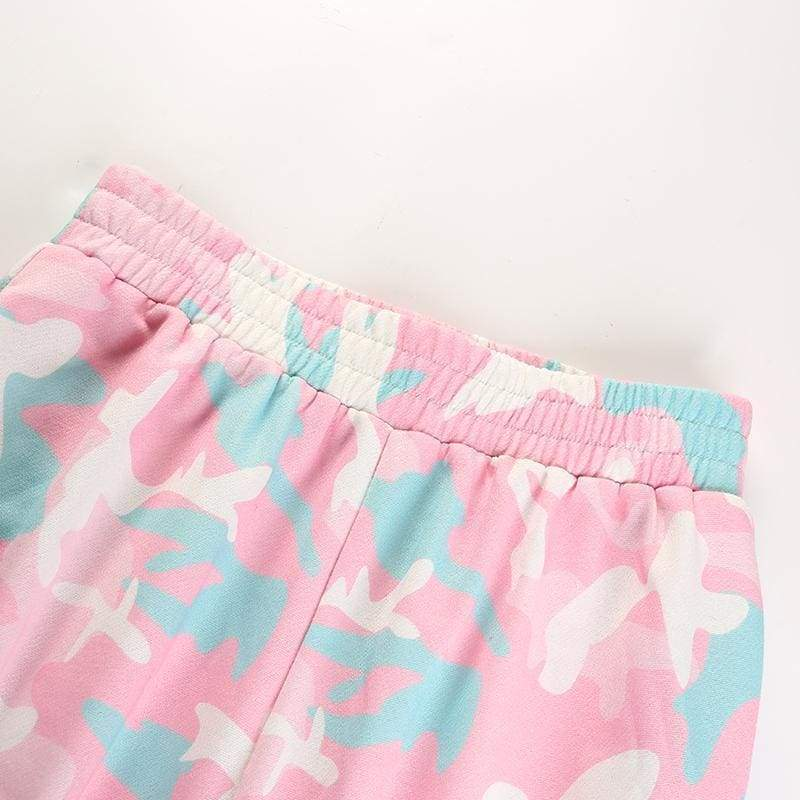 Pink Camouflage Casual Joggers | Streetgarm