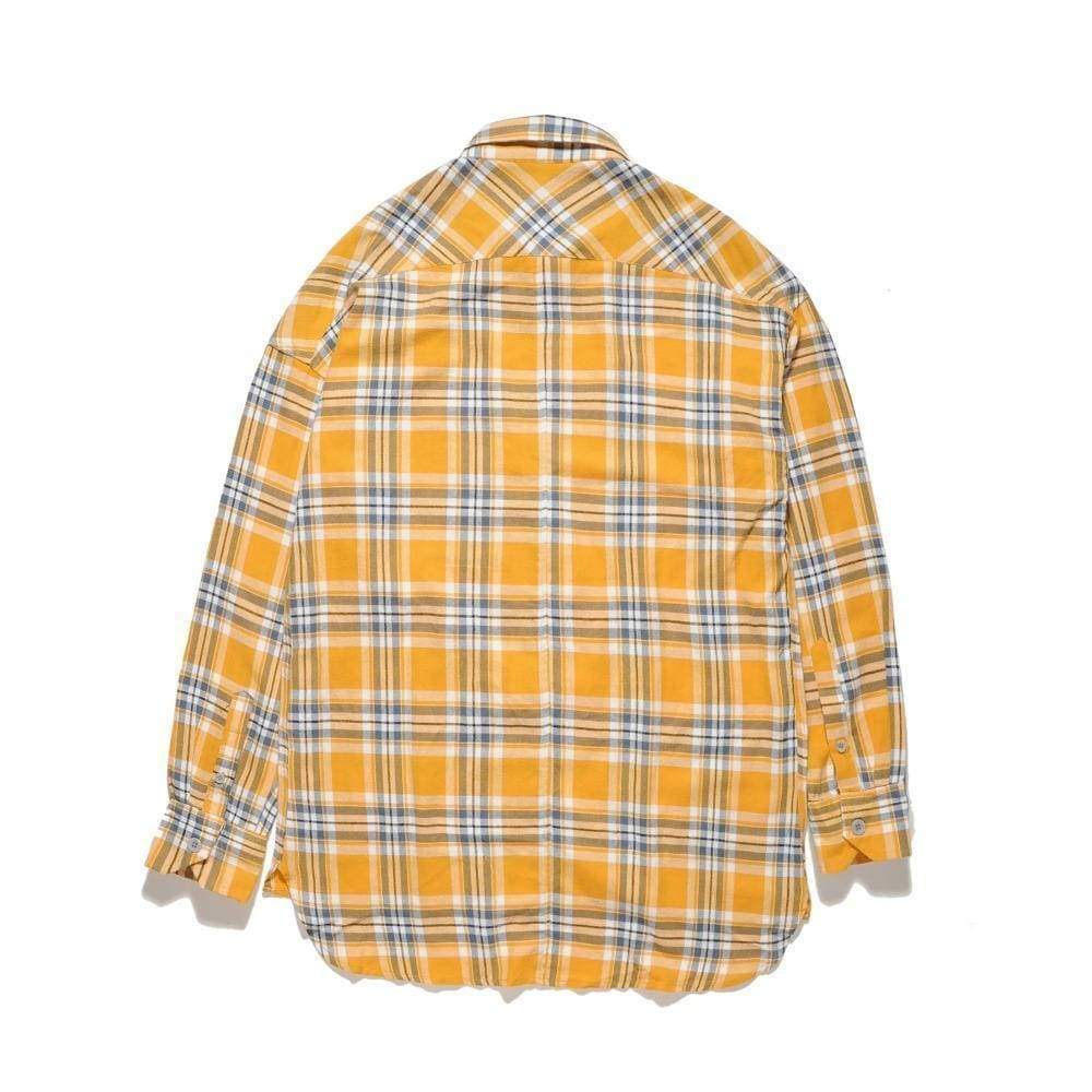 Plaid Flannel Shirt - Yellow | Streetgarm