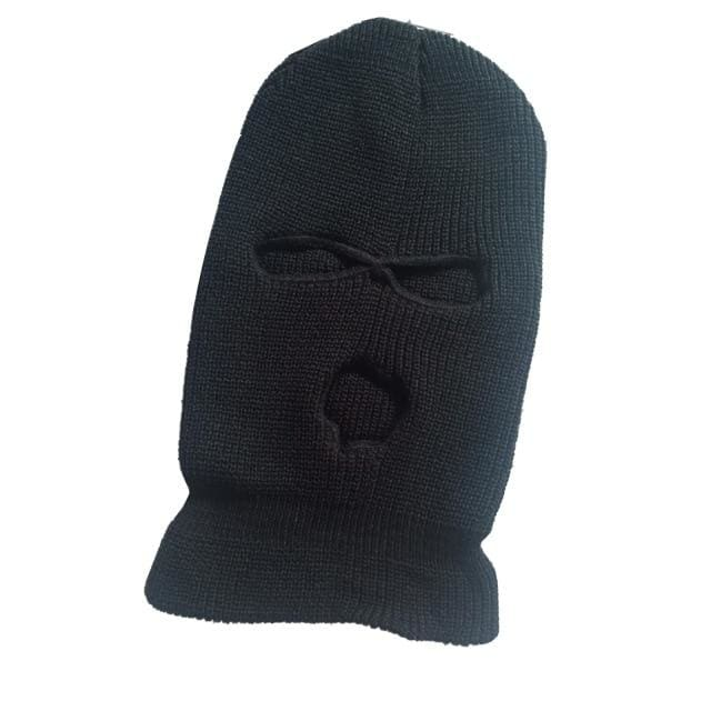 Plain Fashion Ski Mask | Black - Streetgarm