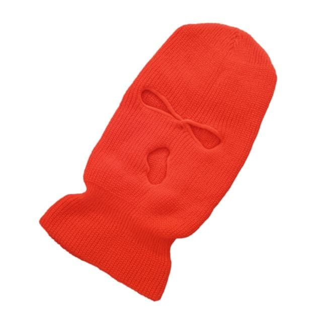 Plain Fashion Ski Mask | Orange - Streetgarm